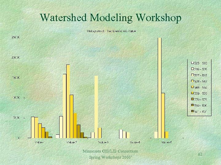 Watershed Modeling Workshop Minnesota GIS/LIS Consortium Spring Workshops 2000' 62