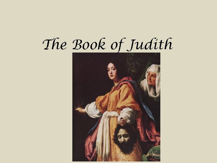 The Book of Judith
