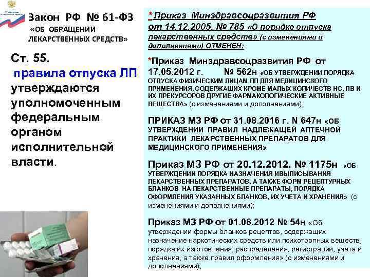 Обращение медицинских изделий.