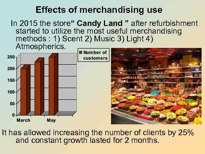 impact of visual merchandising on sales Visual merchandise not only maintains traffic flow into the store but it also affects the brand image of a store which has an ultimate effect on sales of a the study is aimed to find out impact of various dimensions of visual merchandising on impulse buying behavior of the customers visiting central.
