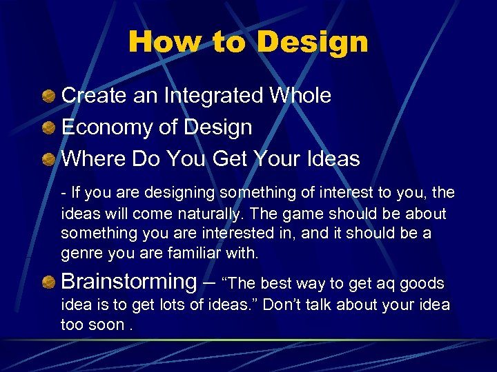 How to Design Create an Integrated Whole Economy of Design Where Do You Get