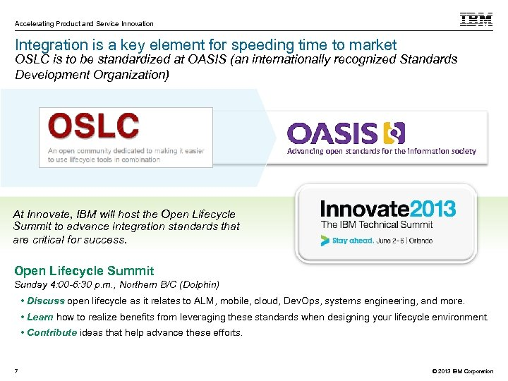 Accelerating Product and Service Innovation Integration is a key element for speeding time to