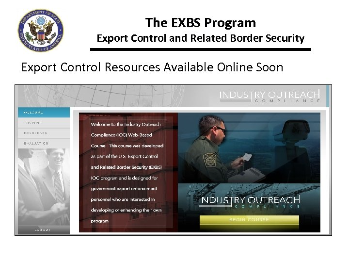 The EXBS Program Export Control and Related Border Security Export Control Resources Available Online