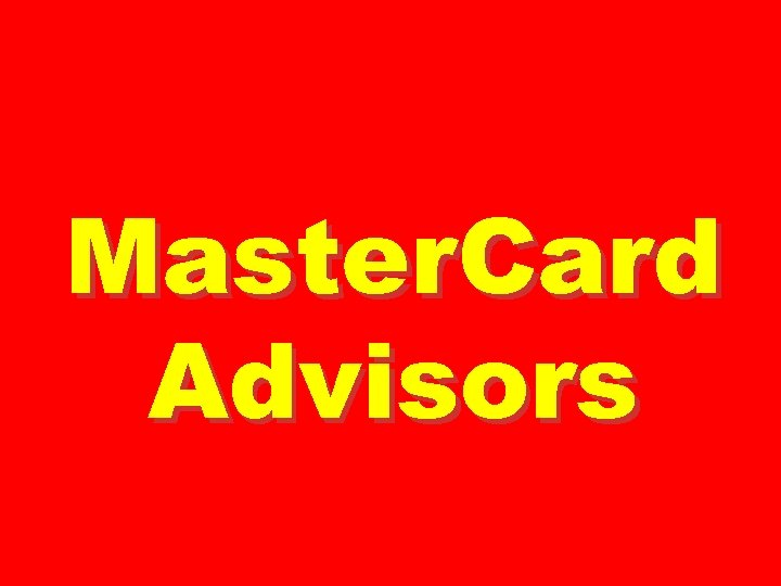 Master. Card Advisors
