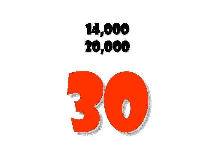 14, 000 20, 000 30