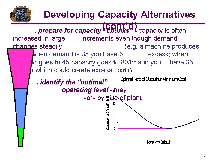 """Developing Capacity Alternatives (cont'd). prepare for capacity """"chunks"""" - capacity is often increased in"""