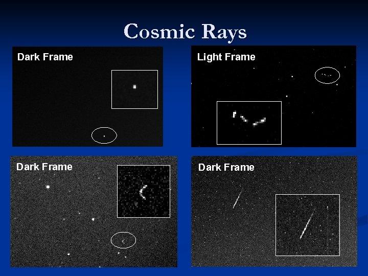 Cosmic Rays Dark Frame Light Frame Dark Frame
