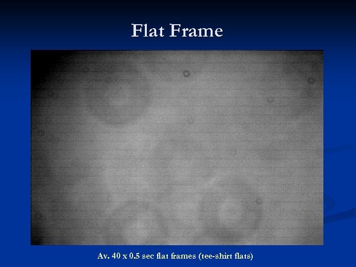 Flat Frame Av. 40 x 0. 5 sec flat frames (tee-shirt flats)