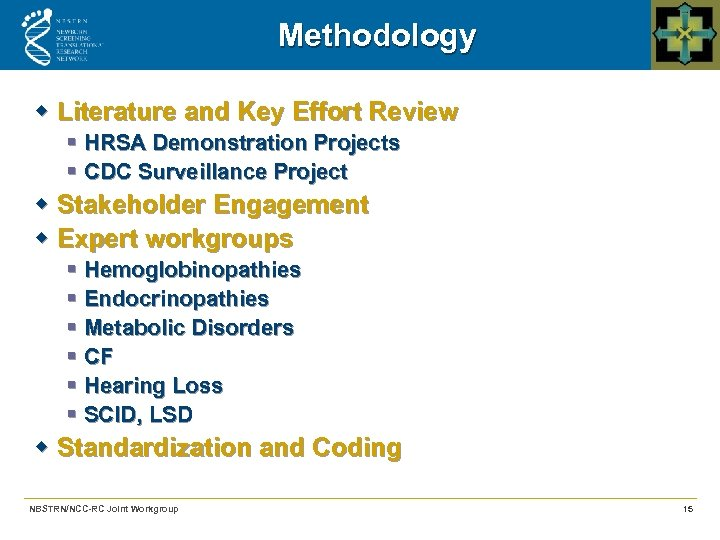 Methodology w Literature and Key Effort Review § HRSA Demonstration Projects § CDC Surveillance