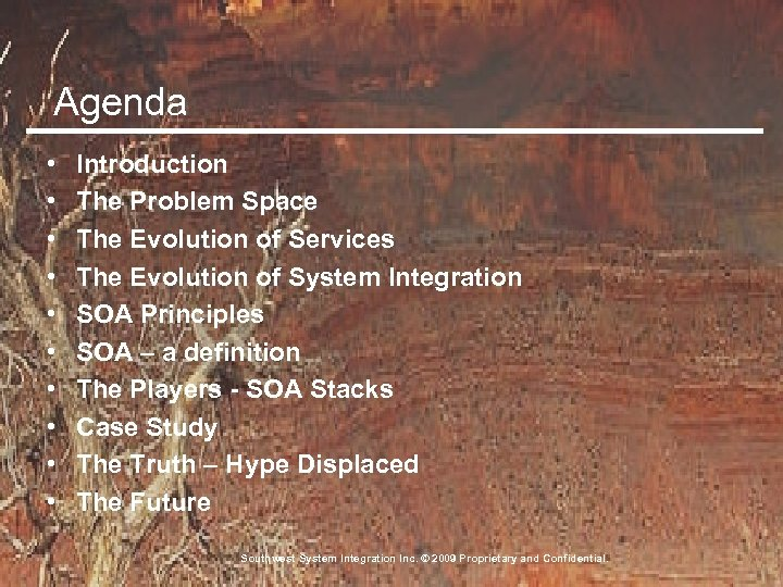Agenda • • • Introduction The Problem Space The Evolution of Services The Evolution