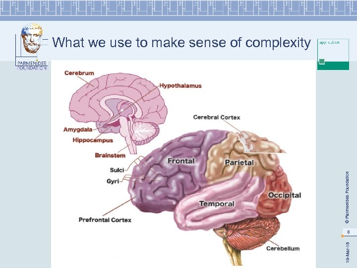© Parmenides Foundation What we use to make sense of complexity 19 -Mar-18 8