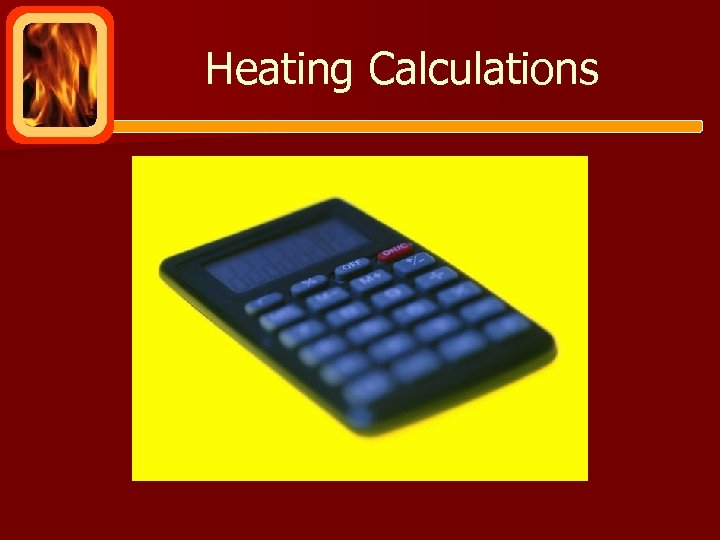 Heating Calculations