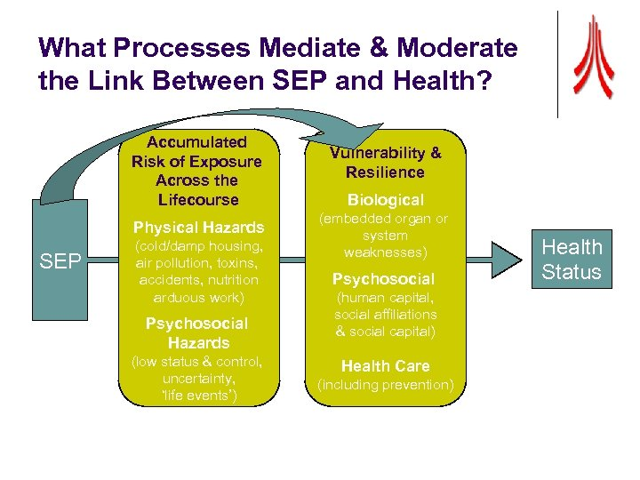 What Processes Mediate & Moderate the Link Between SEP and Health? Accumulated Risk of