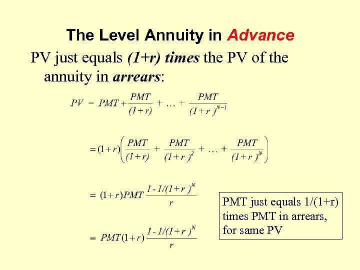 annuity in advance