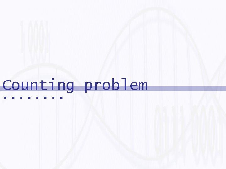 Counting problem