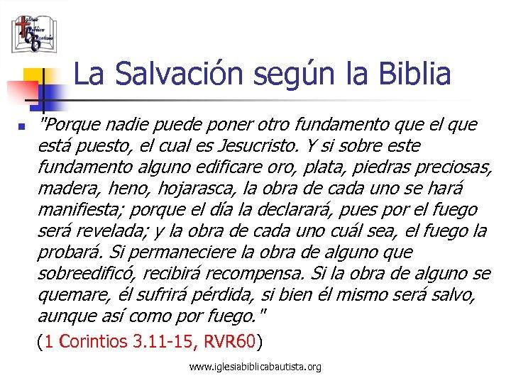 La Salvación según la Biblia n