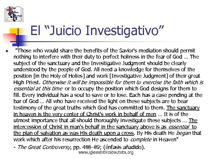 """El """"Juicio Investigativo"""" n"""