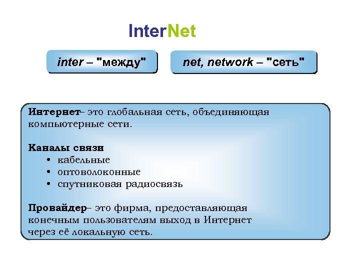 Inter. Net inter –