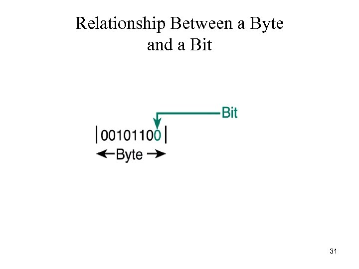 Relationship Between a Byte and a Bit 31