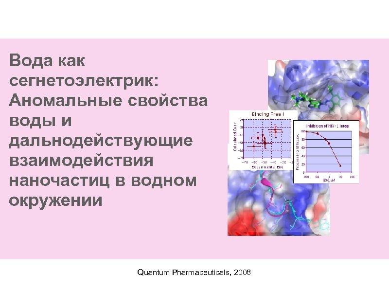 Вода как сегнетоэлектрик: Аномальные свойства воды и дальнодействующие взаимодействия наночастиц в водном окружении Quantum