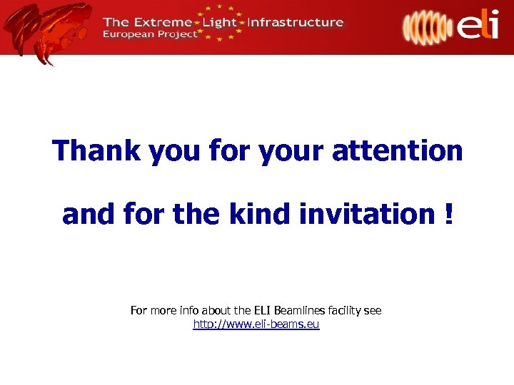 Thank you for your attention and for the kind invitation ! For more info
