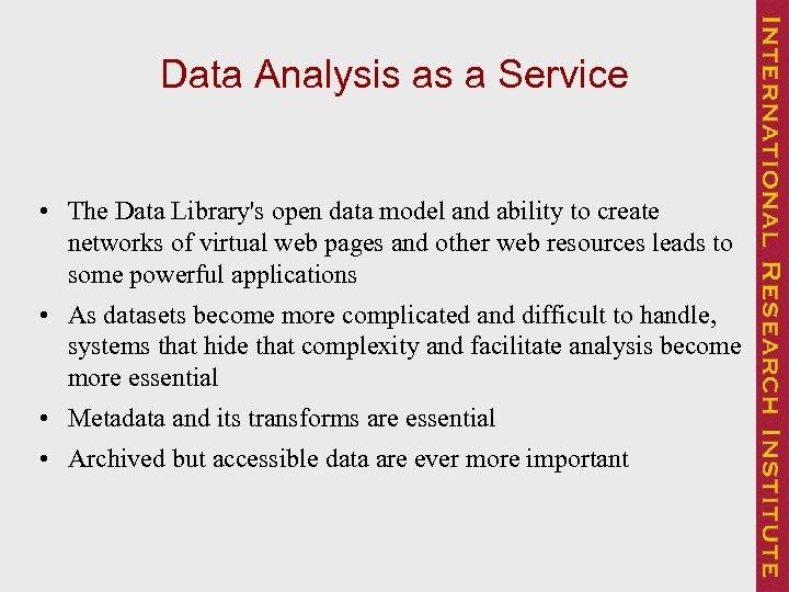 Steps towards a Web Data Laboratory data analysis