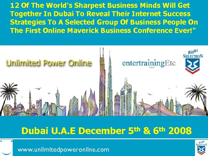 12 Of The World's Sharpest Business Minds Will Get Together In Dubai To Reveal