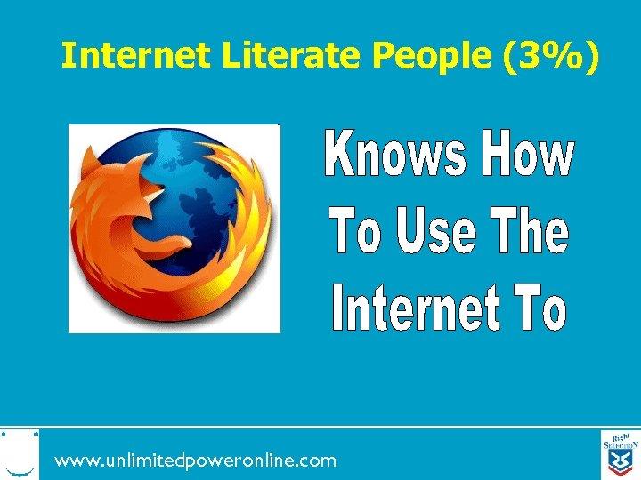Internet Literate People (3%) www. unlimitedpoweronline. com