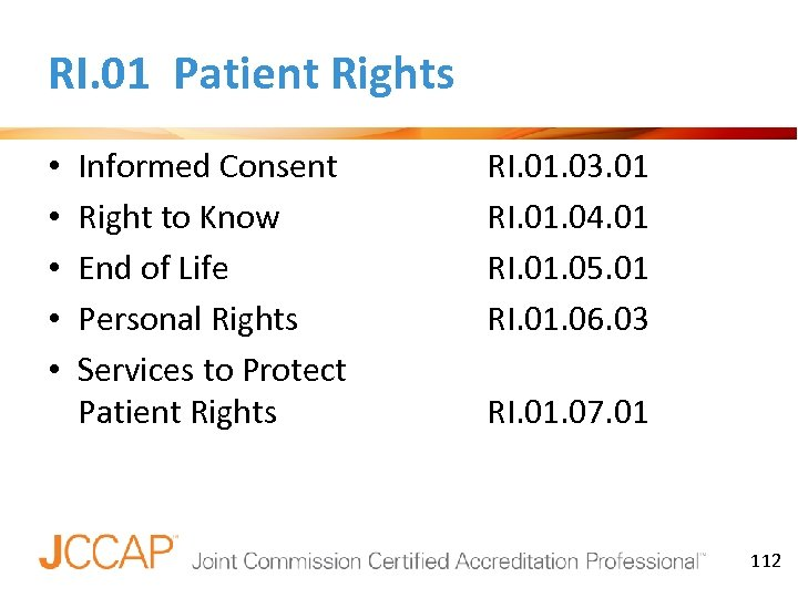 RI. 01 Patient Rights • • • Informed Consent Right to Know End of