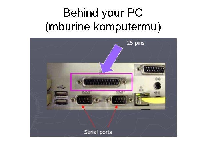 Behind your PC (mburine komputermu)