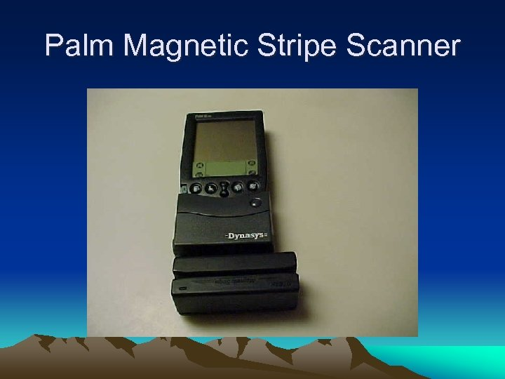 Palm Magnetic Stripe Scanner
