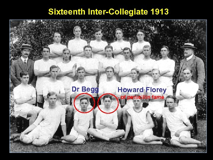 Sixteenth Inter-Collegiate 1913 Dr Begg Howard Florey - of penicillin fame