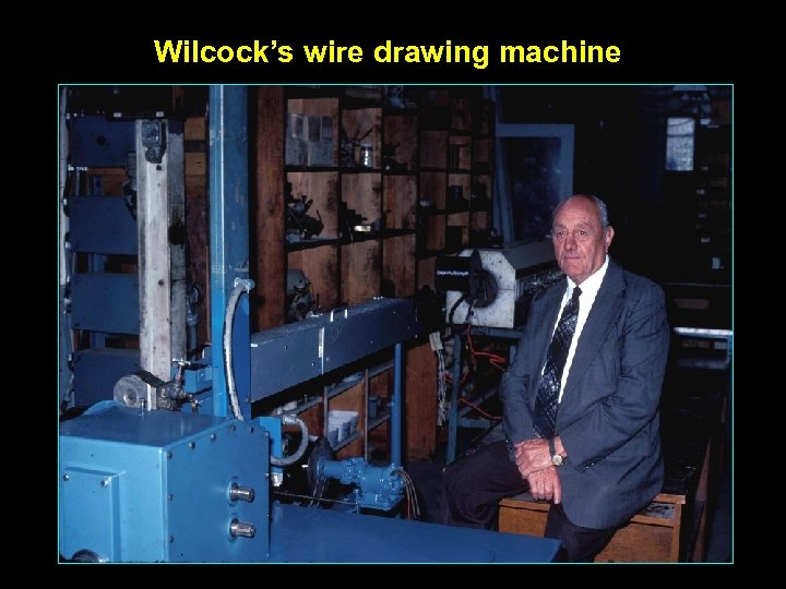 Wilcock's wire drawing machine