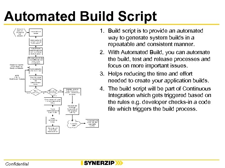 Automated Build Script 1. Build script is to provide an automated way to generate