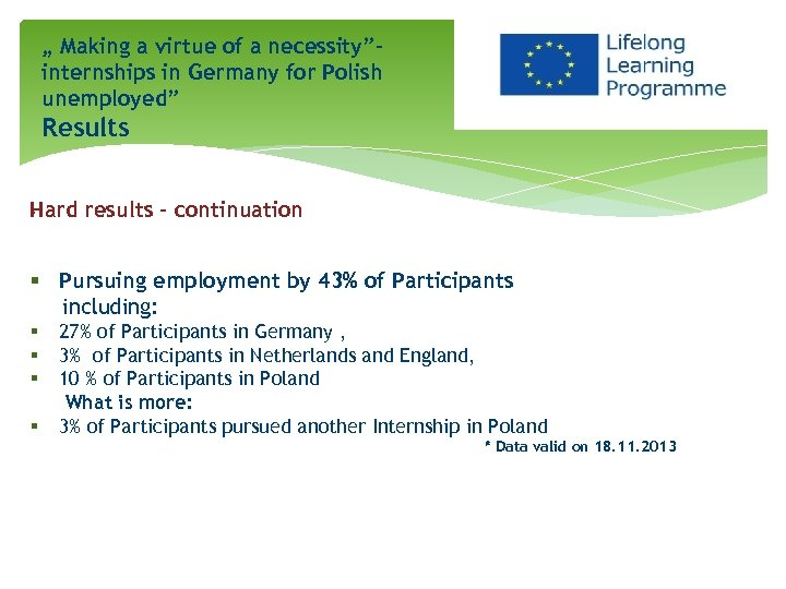 """"""" Making a virtue of a necessity""""internships in Germany for Polish unemployed"""" Results. Hard"""