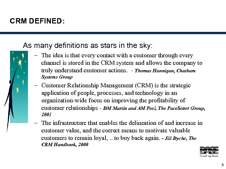 CRM DEFINED: As many definitions as stars in the sky: – The idea is