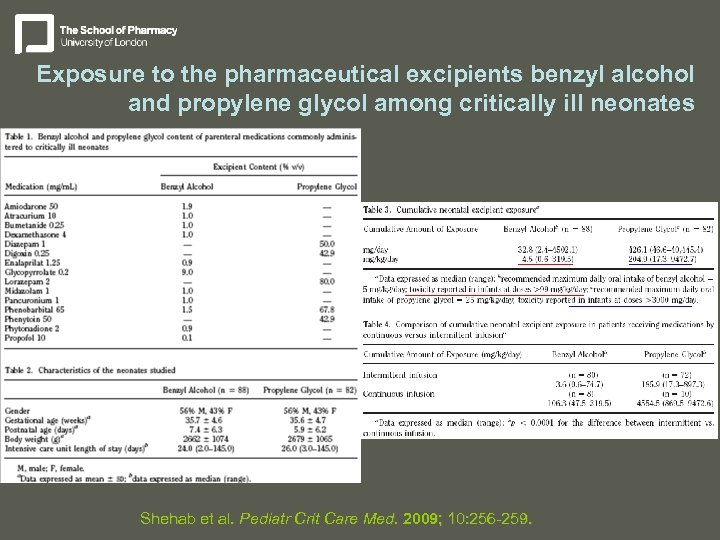 Exposure to the pharmaceutical excipients benzyl alcohol and propylene glycol among critically ill neonates