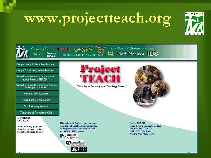 www. projectteach. org