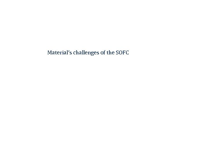 Material's challenges of the SOFC