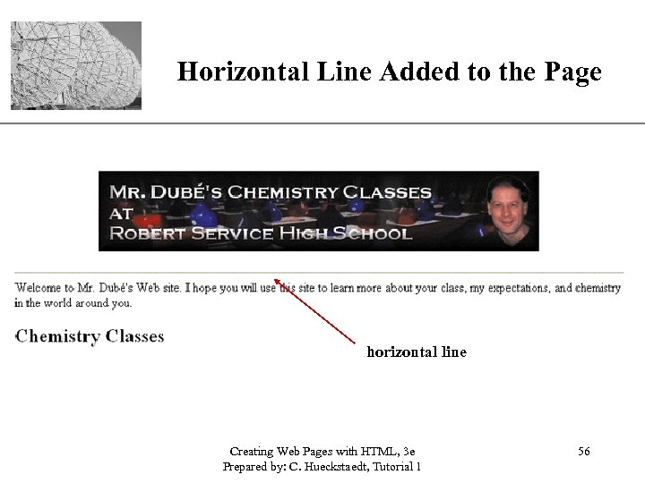 XP Horizontal Line Added to the Page horizontal line Creating Web Pages with HTML,
