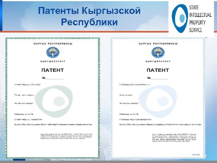 Патенты Кыргызской Республики