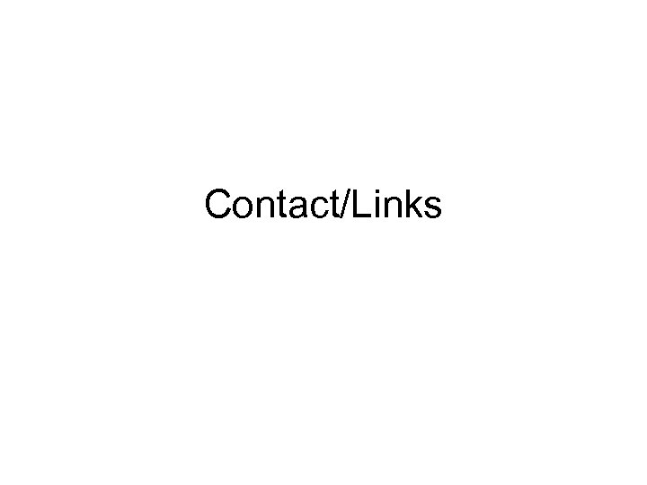Contact/Links