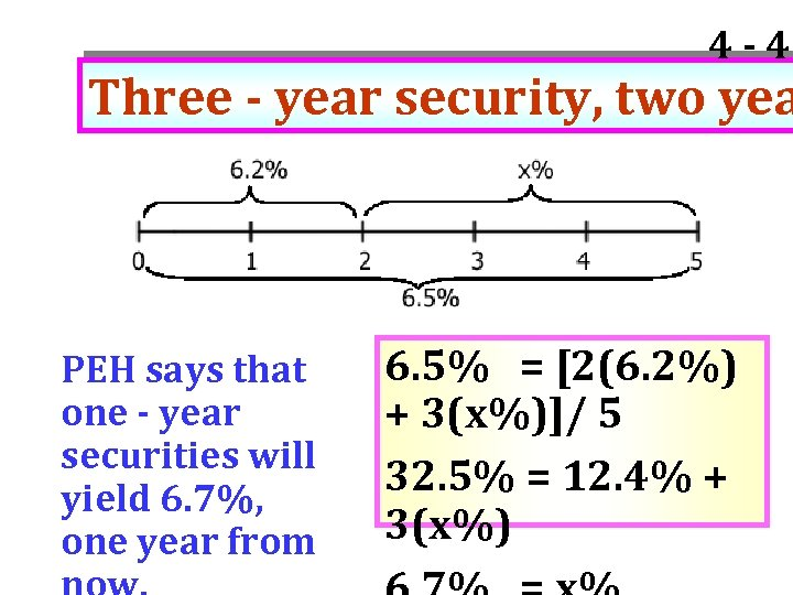 4 - 49 Three - year security, two yea PEH says that one -