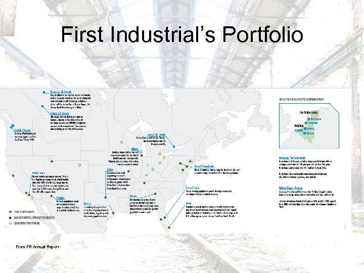 First Industrial's Portfolio From FR Annual Report