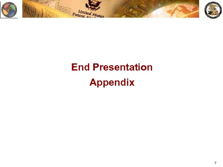 End Presentation Appendix 7