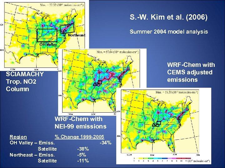 S. -W. Kim et al. (2006) Northeast Summer 2004 model analysis OH Valley WRF-Chem