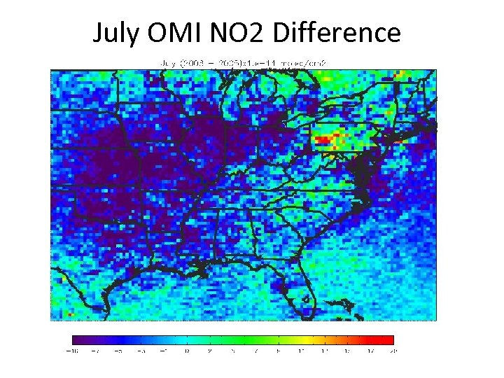 July OMI NO 2 Difference