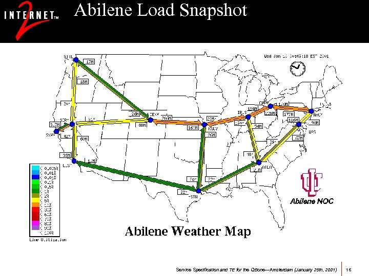 Abilene Load Snapshot Service Specification and TE for the QBone—Amsterdam (January 25 th, 2001)