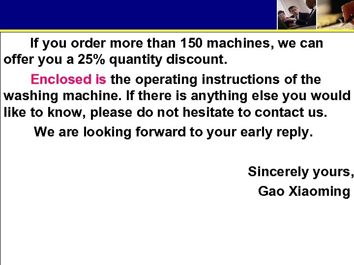 If you order more than 150 machines, we can offer you a 25% quantity