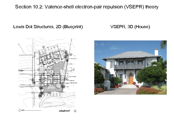 Section 10. 2: Valence-shell electron-pair repulsion (VSEPR) theory Lewis Dot Structures, 2 D (Blueprint)
